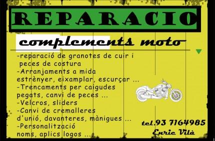 Reparación de trajes de moto Enric Vilá